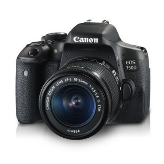 Canon กล้อง DSLR รุ่น EOS 750D Kit EF-S18-55mm IS STM (ประกันศูนย์ไทย)