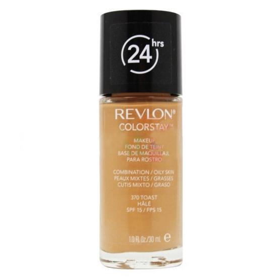 รองพื้น เรฟลอน Revlon Colorstay Foundation Makeup for Combination/Oily Skin SPF15 30ml #สี 370 toast
