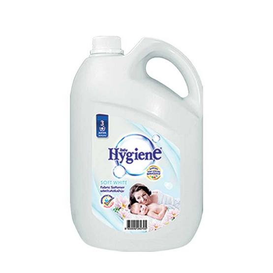 ไฮยีน ผลิตภัณฑ์ปรับผ้านุ่ม กลิ่นซอฟท์ไวท์ 3,500 มล. สีขาว