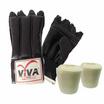 VIVA Set แบคชก PU นิ้วโผล่ 1 คู่ และผ้าพันมือธรรมดา 1 คู่