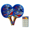 VIVA Set ไม้เทเบิลเทนนิส รุ่น 2 ดาว 1 คู่ และลูกเทเบิลเทนนิส 40 มม. 1 แพ็ค