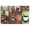 แผ่นรองจานลายกาแฟ ชุด 6 ชิ้น /TB118-32