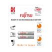Fujitsu ถ่านชาร์จ HR-4UTCEX(2B) ขนาด AAA Pack 2 White Standard Capacity min 750mAh.
