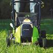 Greenworks รถตัดหญ้า 40 V พร้อมแบตเตอร์รี่และแท่นชาร์ต