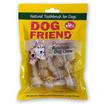 DOG FRIEND ขนมขบเคี้ยวสุนัข กระดูกผูก 2.5 นิ้ว สีธรรมชาติ 8 ชิ้น (3 แพ็ค)