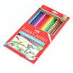 Faber-Castell ดินสอสีไม้ระบายน้ำ 24 สี กล่องกระดาษ
