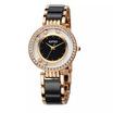 Kimio นาฬิกาข้อมือผู้หญิง ประดับคริสตัล สาย alloy รุ่น K485 - สีดำ/ทอง