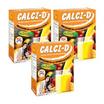 Calci-D แคลซี่-ดี เครื่องดื่มกลิ่นส้ม บรรจุ 10 ซอง แพ็ค 3 กล่อง