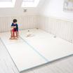 Creamhaus เบาะรองคลานแบบไร้ร่อง สีครีม ฟ้า ขนาด 140 x 185 cm