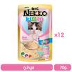 Nekko อาหารเปียกลูกแมว ทูน่ามูส 70 กรัม x 12 ซอง