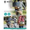 Bianchi  LBTC-03  A4 Messenger SiverGrey (สีเงินเทา/ ขอบหนังสีน้ำตาล)