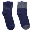 PALLY ถุงเท้า Business Blue Socks 2 Pairs Weight 90 grams Blue