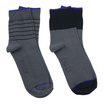 PALLY ถุงเท้า Business Grey Socks 2 Pairs Weight 90 grams Grey