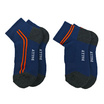 PALLY ถุงเท้า Sport Blue Socks 2 Pairs Weight 90 grams Blue