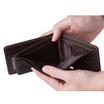 MOONLIGHT กระเป๋าสตางค์หนังแท้ สำหรับผู้ชาย รุ่น Less But More 04 สีน้ำตาลเข้ม