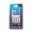 eneloop Panasonic Smart & Quick Charger with eneloop 2,000 mAh AA x 4 pcs. รุ่น K-KJ55MCC40T (White)
