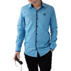 FQ&L  เสื้อเชิ้ตผู้ชาย ( MMFLJ-097-S5) สี BLUE SEA