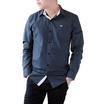 FQ&L  เสื้อเชิ้ตผู้ชาย ( MMFLJ-113-S8) สี NAVY BLUE