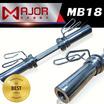 Major Sport แกนดัมเบล ชุบโครเมี่ยม โอลิมปิก ขนาด 50.8 ซม. 1 แกน + สปริงล็อคแน่นหนา 2 อัน รุ่น MB18