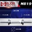 Major Sport แกนดัมเบล ชุบโครเมี่ยม 14 นิ้ว 1 คู่ + น็อตล็อคพร้อมซิลยาง 2 อัน รุ่น MB19