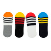 Annasocks ถุงเท้าคัทชู ไร้ขอบ รุ่น P004 ลายริ้ว เซ็ต 4 คุ่ คละสี male