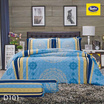 Satin ชุดผ้าปูที่นอน6ฟุต6ชิ้น D101