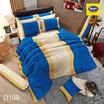 Satin ผ้านวม + ผ้าปูที่นอน 6 ฟุต 6 ชิ้น ลาย D108