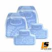 LEOMAX ถาดปูพื้นพลาสติก PVC ด้านหน้า รุ่น SKYLINE ECO ชุด 4 ชิ้น (สีฟ้าใส)