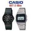 Casio เซต 2MQ24-1B3 A158WA-1DF