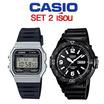 Casio เซต 2F-91WM-7ADF MRW-200H-1B2