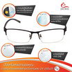 Jackal แว่นกรองแสง เลนส์ออโต้ 4 in 1 OP005(4in1)
