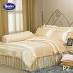 Satin Silk Touch ผ้าปูที่นอนแพรไหม ลาย P2 ทองอ่อน (ไม่มีระบาย)