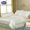 Satin Silk Touch ผ้าปูที่นอนแพรไหม ลาย P3 ครีม (ไม่มีระบาย)