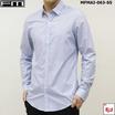 FM  เสื้อเชิ้ตแขนยาวพิมพ์ลาย (MFMAI-063-S5-OM) สี BLUE