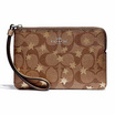 COACH F39045 CORNER ZIP WRISTLET IN SIGNATURE CANVAS WITH POP STAR PRINT (SVE7V) [MCF39045SVE7V]