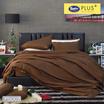 Satin Plus ผ้าปูที่นอน PS003 Cocoa Brown