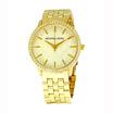 Michael MK3120 Women's MK3120 Gold 5-Link Round Argyle MK Glitz Watch [MCMK3120]