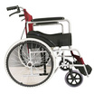 Abloom วีลแชร์ รถเข็น ผู้ป่วย เหล็กชุบ พับได้  พร้อมเบรคมือ Standard Foldable Wheelchair สีแดง