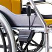 Fasicare TAVEL รถเข็นผู้ป่วยอะลูมิเนียมอัลลอย รุ่น FAL-114Y เบาะสีเหลือง ถอดซักได้ พับพนักพิงหลังได้