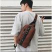 Osaka รุ่น NE04 กระเป๋าผู้ชาย คาดอก คาดไหล่ หนัง PU - สีน้ำตาล