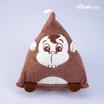 Shopsmartน้ำตาลMonky21737ตุ๊กตาสามเหลียม