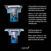 COTTO  ตะแกรงน้ำทิ้งกันกลิ่น(ANTI-BACTERIA)สำหรับท่อ PVC ขนาด 2 นิ้ว