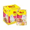 อาหารแมวเปียก มีโอ ดีไลท์ รสทูน่าและปลาโอในเยลลี่  (1แพ็ก12 ชิ้น)