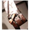 OSAKA รุ่น NE163 กระเป๋าสะพายไหล่ผู้ชายหรือถือ หนัง PU สไตล์ย้อนยุค -