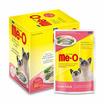 อาหารแมวเปียก มีโอรสซาร์ดีนและกระพงในเยลลี่ 80g. 1แพ็ก (12ซอง)