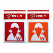 Robin ป้ายอะคริลิค 9.8x9.8 ซม. สัญลักษณ์หญิง (แพ็ค2ชิ้น)