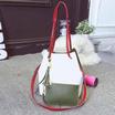 Fancybag กระเป๋าสะพาย Shoulder Bags กระเป๋าถือใส่ของ 2 Tone สีเขียว+สีขาว