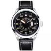 Curren นาฬิกา สายหนังสีดำ/ขอบเงิน รุ่น C8210