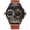 Curren นาฬิกา สีน้ำตาล หน้าปัดสีดำรุ่น C8249