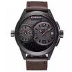 Curren นาฬิกา สี Cofee หน้าปัดสีดำ รุ่น C8249